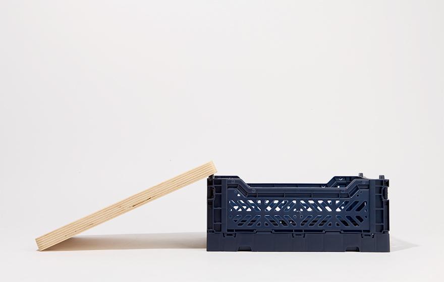 아이카사 폴딩박스 우드커버 라지 - 웨어하우스, 44,400원, 정리/리빙박스, 플라스틱 리빙박스